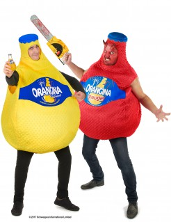 Orangina™-Paarkostüm Getränke-Kostüm rot-gelb