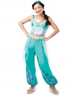 Zauberhaftes Jasmin™-Lizenzkostüm aus Aladin™ türkis-violett