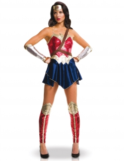 Justice League™ Wonder Woman™ Damenkostüm Lizenzware blau-gold-rot
