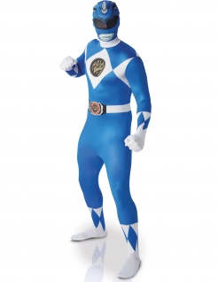 Power Rangers™-Kostüm Superhelden-Lizenzkostüm Second Skin blau