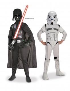 Star Wars™ Kinderkostüm-Set für Jungen Darth Vader und Stormtrooper schwarz-weiss