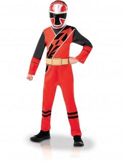 Power Rangers™-Kinderkostüm Lizenzartikel rot-schwarz