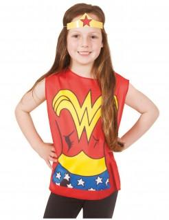 Wonder Woman™-Shirt und -Kopfschmuck für Kinder bunt