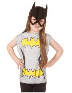 Batgirl™ Shirt mit Maske Kostüm-Set für Kinder grau-gelb