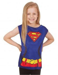 Supergirl™ Shirt für Mädchen Lizenzartikel blau-rot-gelb