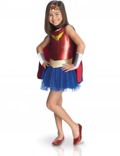 Wonder Woman™-Mädchenkostüm Superhelden-Kinderkostüm rot-blau