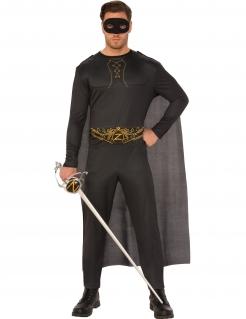 Zorro™-Lizenzkostüm für Erwachsene schwarz-gold