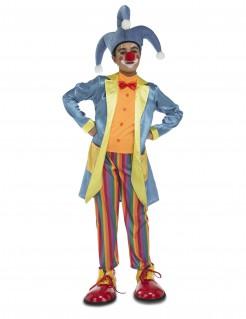 Lustiges Clownskostüm für Kinder bunt