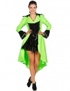 Luxuriöser Mantel für Damen grün