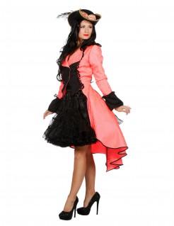 Luxuriöser Mantel für Damen koralle
