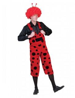 Marienkäfer-Kostüm für Erwachsene schwarz-rot