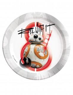 Star Wars: Die letzten Jedi™ Partyteller BB-8 8 Stück weiss-grau-rot 23cm