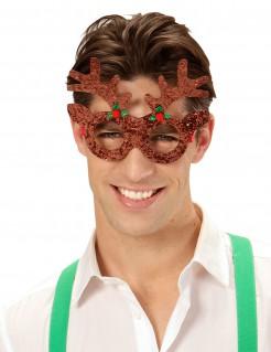 Rentier-Weihnachtsbrille für Erwachsene