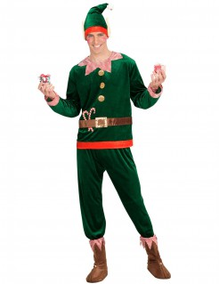 Weihnachtswichtel Herrenkostüm grün