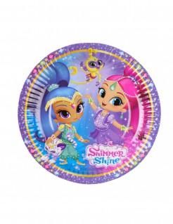 Shimmer und Shine™ Pappteller 8 Stück bunt 18cm