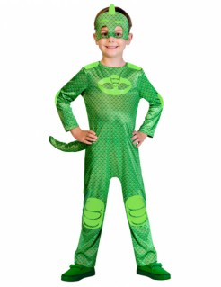 Gecko Kinderkostüm für Jungen PJ Masks™ Lizenzartikel grün