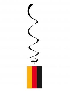 Hängespirale mit Deutschlandflagge 6 Stück schwarz-rot-gold 80cm