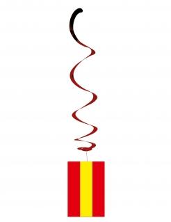 Spanien-Dekospiralen Länder-Fanartikel 6 Stück rot-gelb 80cm