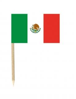 Mini-Mexiko-Fahnen Fanartikel 50 Stück grün-weiss-rot 3x5cm
