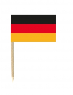 Mini-Deutschland-Fahnen Fanartikelset 50 Stück schwarz-rot-gold 3x5cm