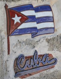 Wanddekoration Cuba bunt 30x41,5cm