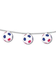 Fussball-Hängegirlande blau-weiss-rot 5 m