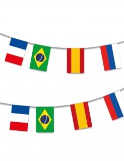 Fußball-Girlande 32 Länder Weltmeisterschaft bunt 13cm
