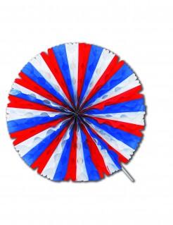Waben-Deko Frankreich-Fanartikel Hängedeko weiss-blau-rot 50 cm