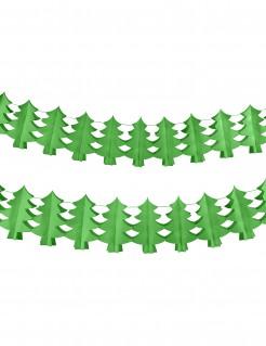 Tannenbaum-Girlande aus feuerfestem Papier grün 4,5 m