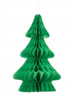 Tannenbaum Tischdeko aus feuerfestem Papier grün 24cm