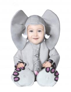 Elefanten-Kostüm für Babys Karneval grau