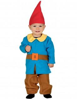 Zwergen-Kostüm für Kleinkinder Karnevalskostüm blau-braun-rot