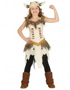 Wikinger-Verkleidung für Mädchen Karneval beige
