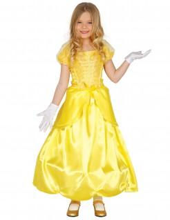 Prinzessin-Kinderkostüm gelb