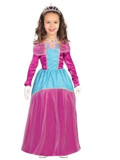Kleine Märchenprinzessin Kinderkostüm pink-blau