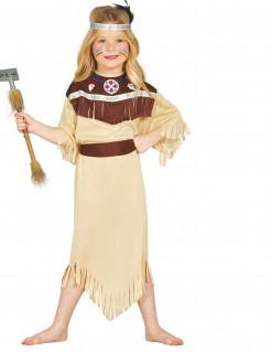 Mutige Indianer-Squaw Kinderkostüm braun-beige