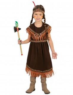Indianerin-Kinderkostüm für Mädchen braun-orange