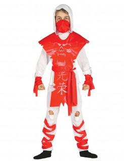 Geister-Ninja Kinderkostüm weiss-rot