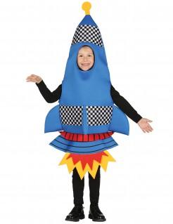 Raketen-Kostüm für Kinder Fasching blau-rot