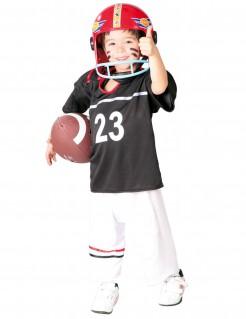 Footballer-Kinderkostüm Sportlerkostüm für Kinder schwarz-weiss