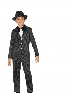 Gangster-Kostüm für Kinder Fasching schwarz