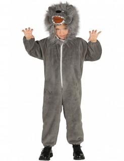 Wolf-Kinderkostüm grau