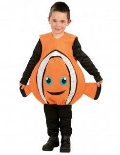 Clownfisch-Kinderkostüm orange-weiss