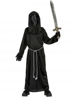 Dunkler Mönch Kostüm für Kinder Halloween schwarz