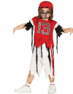 Zombie-Footballspieler Kinderkostüm Halloween rot-weiß-schwarz