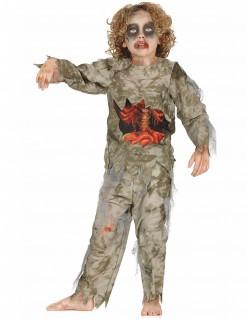 Zombie-Kostüm Moorleiche für Jungen Halloween khaki
