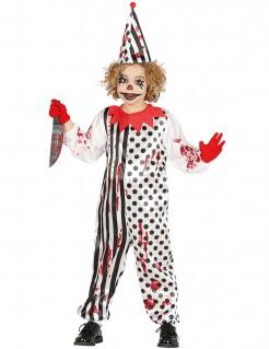Killerclown-Kostüm für Kinder Halloween bunt