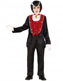 Vampir-Kinderkostüm schwarz-rot