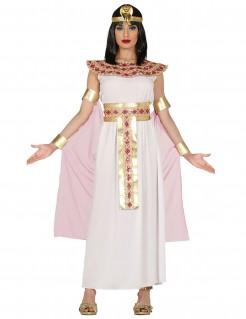 Pharaonin-Kostüm Ägyptische Königin mit Gürtel weiss-gold-rosa
