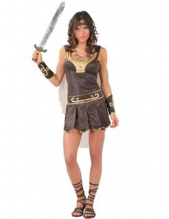 Römisches Kriegerinnen-Kostüm braun-gold